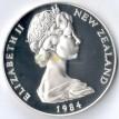 Новая Зеландия 1984 1 доллар Черный дрозд (серебро)