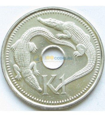 Папуа - Новая Гвинея 2001 1 кина Крокодил