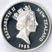 Новая Зеландия 1988 1 доллар Желтоглазый пингвин