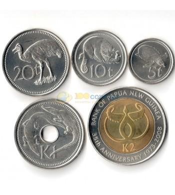 Папуа - Новая Гвинея 2005-2010 набор 5 монет