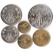 Вануату 1990-2002 набор 6 монет