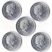 Острова Кука 2003 набор 5 монет Животные
