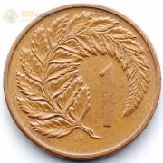 Новая Зеландия 1983 1 цент Циатея серебристая