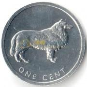 Острова Кука 2003 1 цент Собака (Бордер-колли)