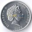 Острова Кука 2003 1 цент Собака