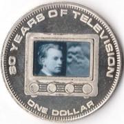 Острова Кука 2006 1 доллар 80 лет телевидению