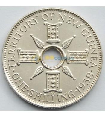 Новая Гвинея 1938 1 шиллинг (серебро)