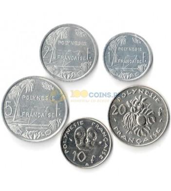 Французская Полинезия 1993-1995 набор 5 монет