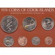 Острова Кука 1974 набор 7 монет запайка