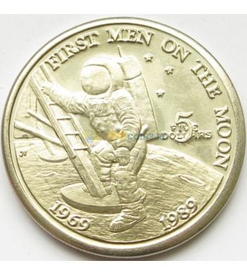 Маршалловы острова 1989 5 долларов Высадка человека на Луну