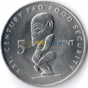 Острова Кука 2000 5 центов ФАО