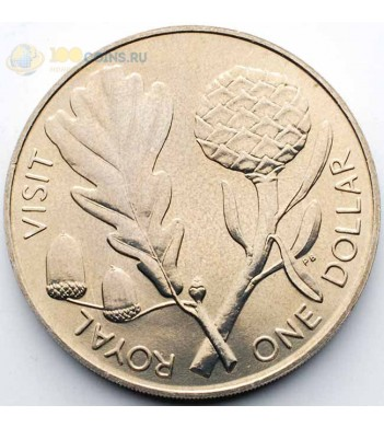 Новая Зеландия 1981 1 доллар Королевский визит
