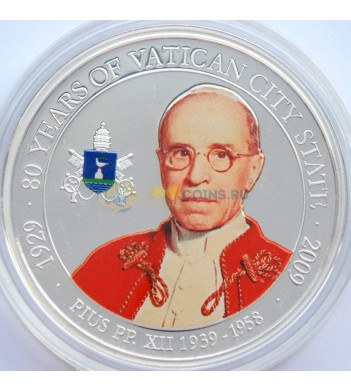 Палау 2009 1 доллар Папа Пий XII