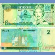 Фиджи бона 2 доллара 2002