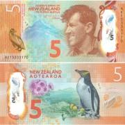 Новая Зеландия бона 5 долларов 2015