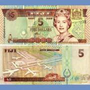 Фиджи бона 5 долларов 2002