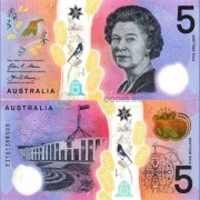 Австралия бона 5 долларов 2016