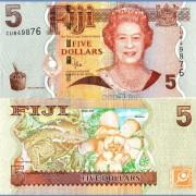 Фиджи бона 5 долларов 2012