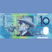 Австралия бона 10 долларов 2015