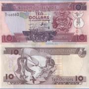 Соломоновы острова бона 10 долларов 2006 (подпись 8)