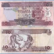 Соломоновы острова бона 10 долларов 2009