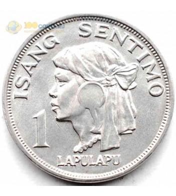 Филиппины 1967-1974 1 сентимо Лапу-Лапу