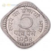 Индия 1968-1971 5 пайс