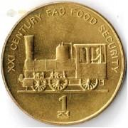 Северная Корея 2002 1 чон Паровоз ФАО