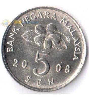 Малайзия 1989-2011 5 сен