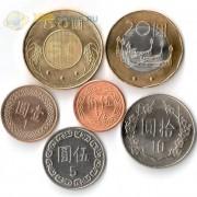 Тайвань 1988-2016 набор 6 монет