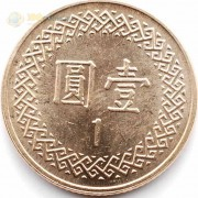 Тайвань 1981-2012 1 юань