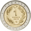Турция набор 24 монеты 1 куруш 2019 птицы