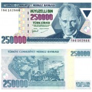 Турция бона 250000 лир 1998