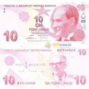 Турция бона 10 лир 2009