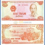 Вьетнам бона 200 донг 1987