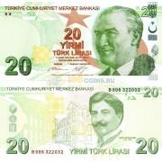 Турция бона 20 лир 2009