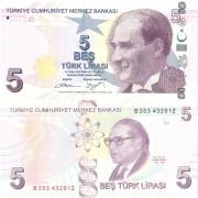 Турция бона 5 лир 2009