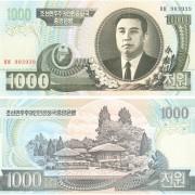 Северная Корея бона 1000 вон 2006