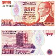 Турция бона 20000 лир 1988