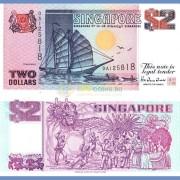 Сингапур бона 2 доллара 1997