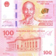 Вьетнам бона 100 донг 2016 65 лет банку