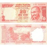 Индия бона 20 рупий 2013