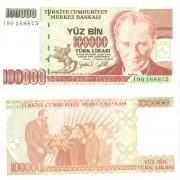 Турция бона 100000 лир 1997