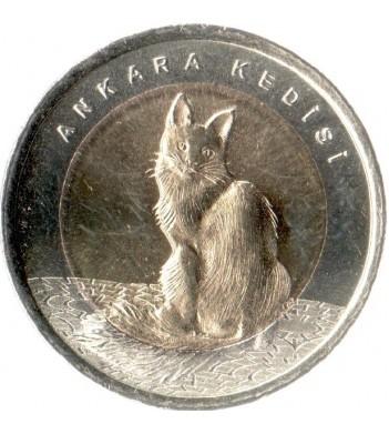 Турция 2015 1 лира Кошка