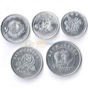 Северная Корея 2002-2008 Набор 5 монет Цветы