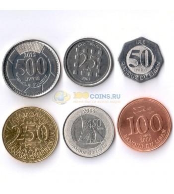 Ливан 1996-2012 набор 6 монет