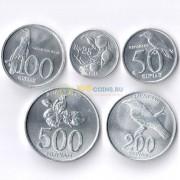 Индонезия 1996-2008 набор 5 монет