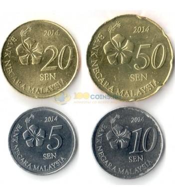 Малайзия 2011-2016 набор 4 монеты
