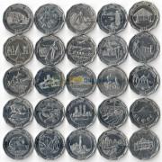 Шри-Ланка 2013 10 рупий набор 25 монет округа страны