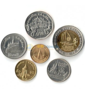Таиланд набор 6 монет 1986-2015 Рама IX